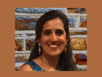 Priya Amaresh, Duke's new Hindu chaplain, is excited to continue developing her passion for spiritual education in a new community. Photo courtesy of Priya Amaresh.