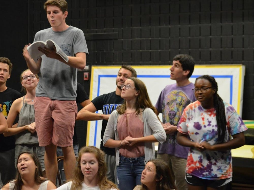 """Student-run theater group Hoof 'n' Horn's musical """"The Producers"""" runs Oct. 12-15 in the Sheafer Lab Theater."""
