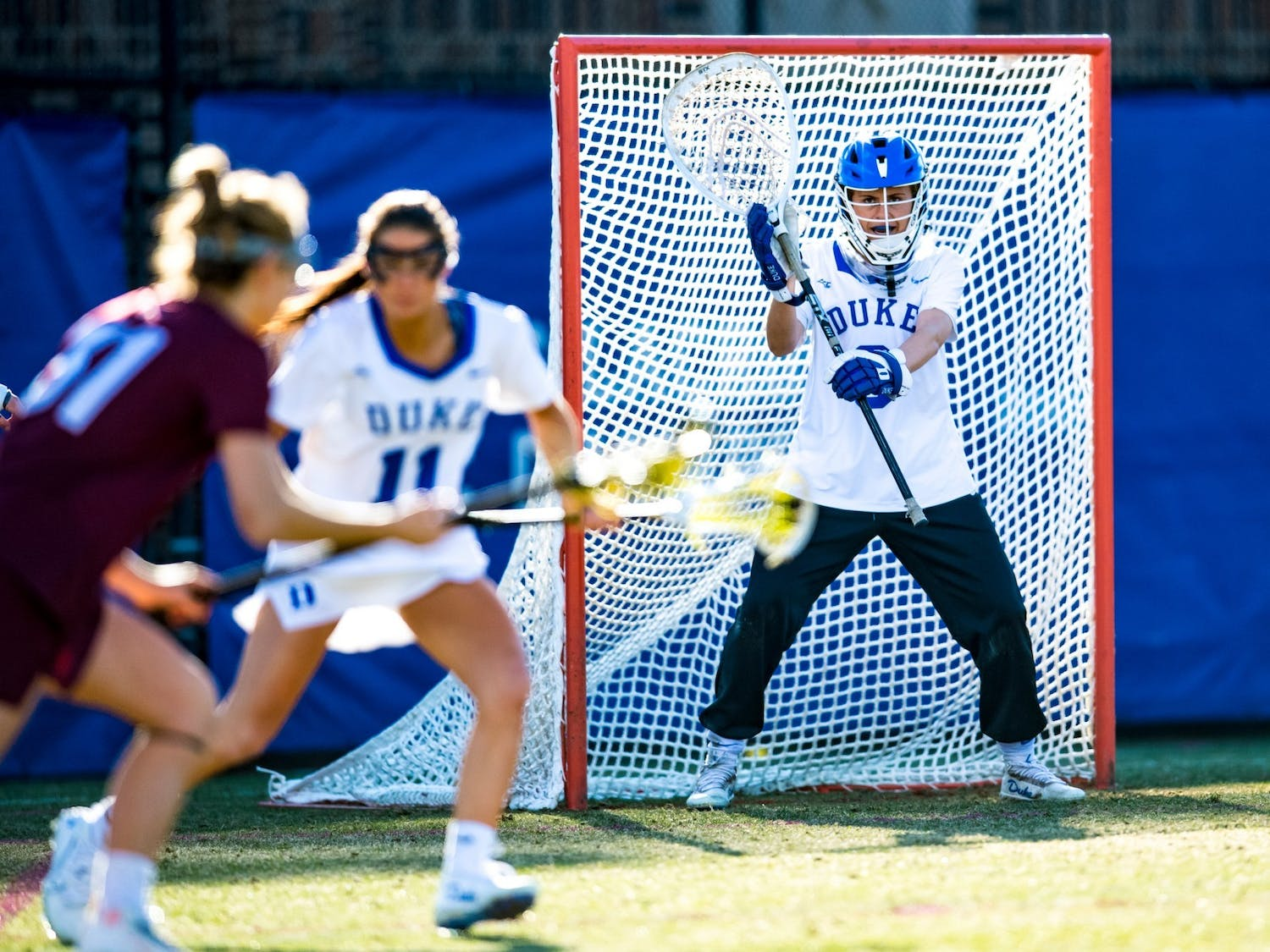 Junior goalie Sophia LeRose's 18 saves over the weekend helped Duke women's lacrosse advance to the Eilte Eight of the NCAA Championship for the first time since 2015.