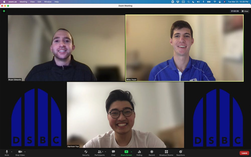 <p>Co-founders Miles Feuer, Bryan Edwards and Harrison Yue have spent 200+ hours meeting over Zoom to organize the conference.</p>