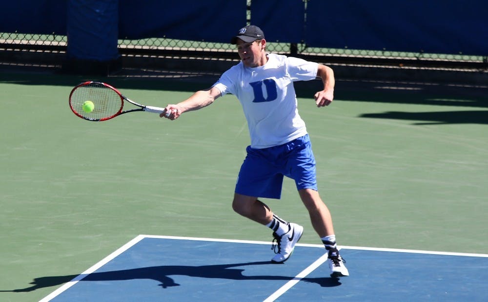 <p>Senior Daniel McCall will try to wrap up his Duke home career by helping the Blue Devils to an upset victory against North Carolina Sunday.&nbsp;</p>
