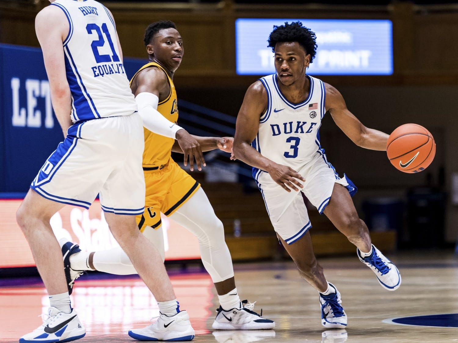 Jeremy Roach was one of the few Blue Devils to get anything going offensively in the first half Tuesday.