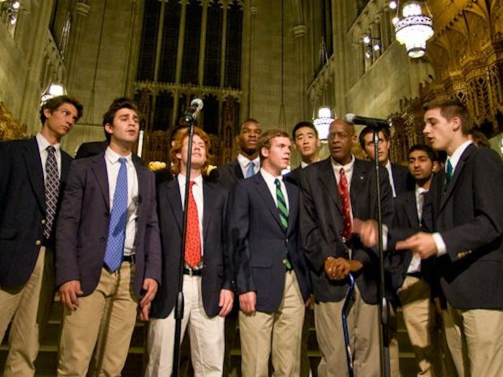 The men's a cappella group the Pitchforks, pictured in 2011, recently brought in a new class of singers.