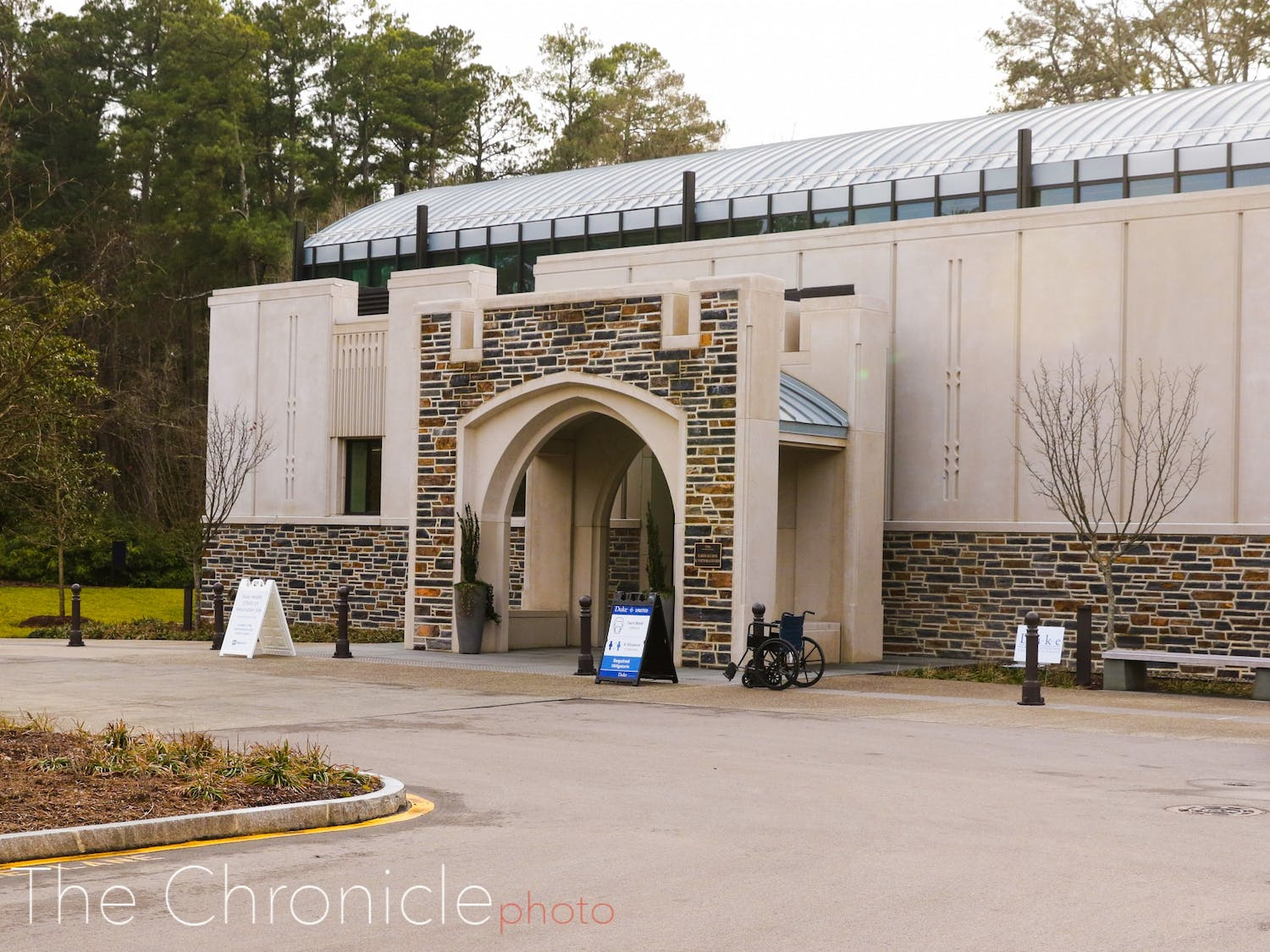 The Karsh Alumni and Visitors Center, opened in 2019 as a gathering spot for prospective students and visiting alumni, has become a polling place and then a COVID-19 vaccination site.
