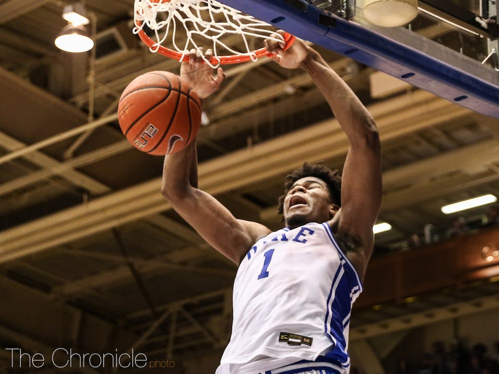 <p>Duke didn't have center Vernon Carey Jr. when it faced off against the Spartans in the NCAA tournament in the Elite Eight.</p>