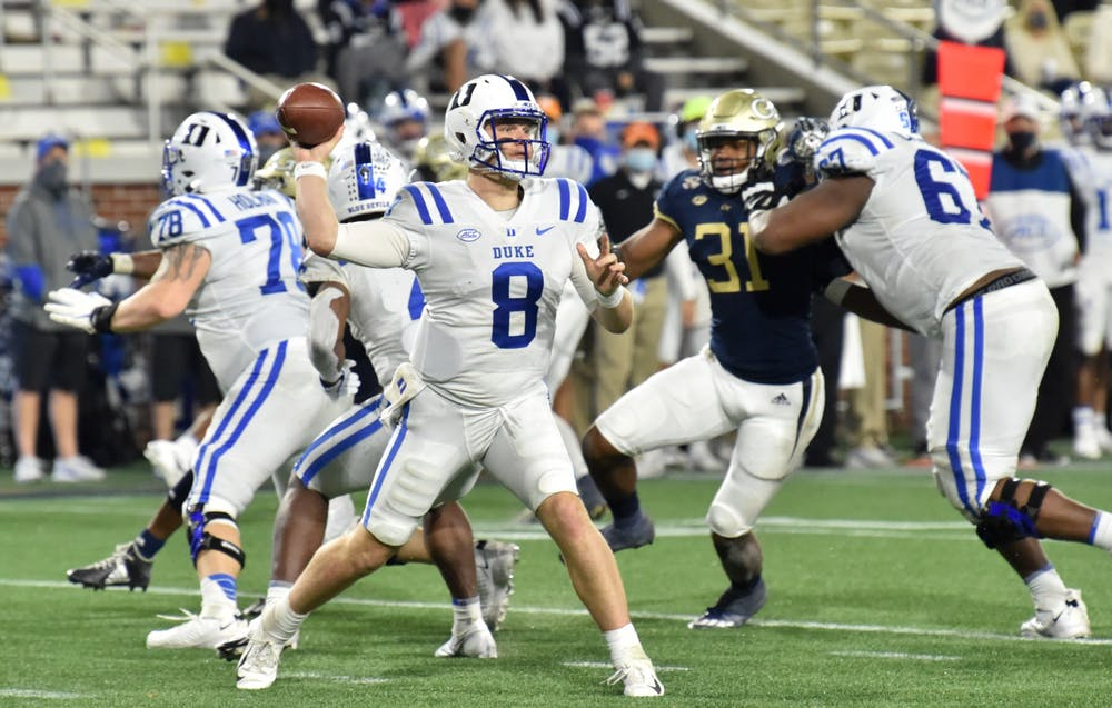 Duke quarterback Chase Brice had arguably his best performance of the year last week against Georgia Tech, but can he keep it up against a confident Miami defense?
