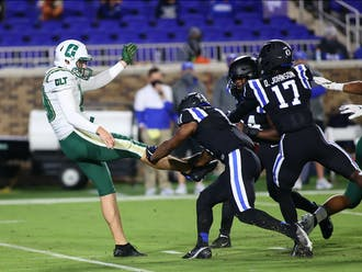 The Blue Devils took advantage of a weak Charlotte offensive line in their dominant 2020 win.