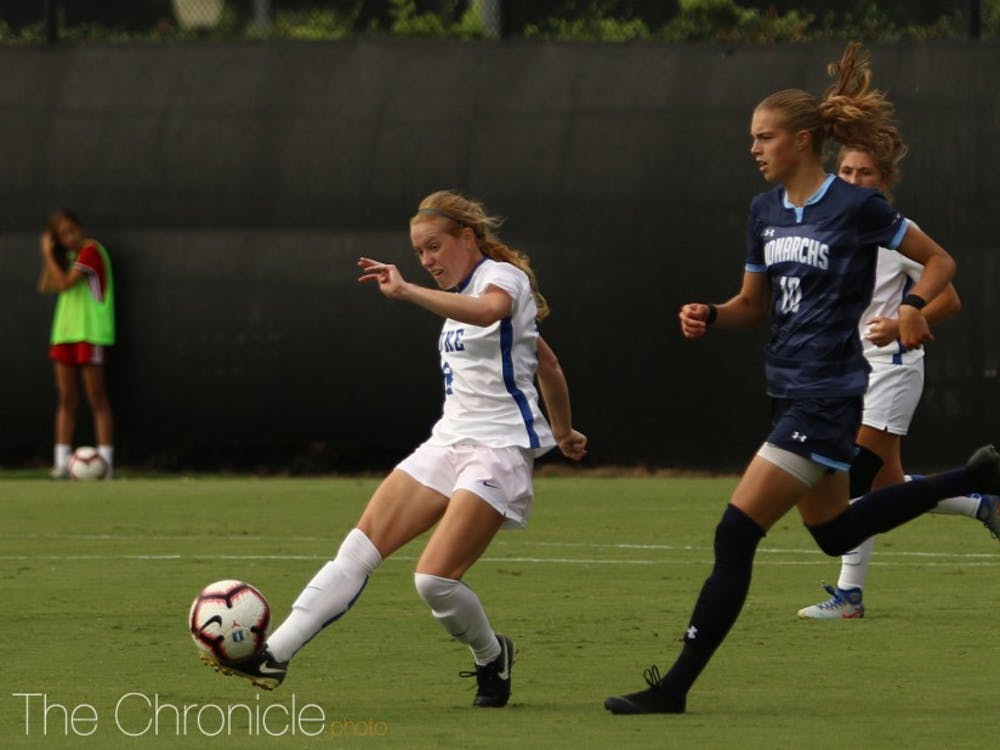 Tess Boade put the Blue Devils on the board with a second half goal Thursday.