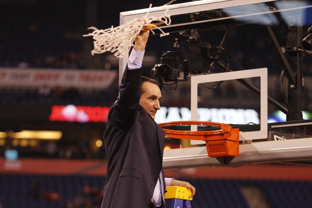 <p>Duke men's basketball head coach Mike Krzyzewski will speak at commencement May 15.</p>