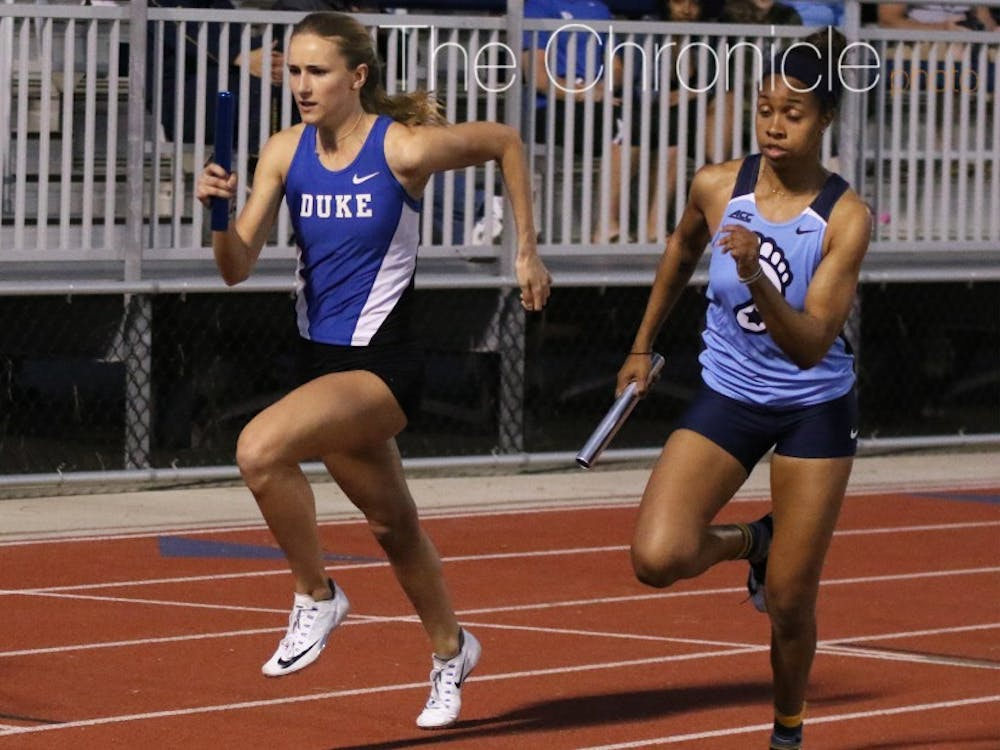 The Blue Devil women's sprinters and sprint relay teams will look to hold their own against tougher competition on the West Coast.