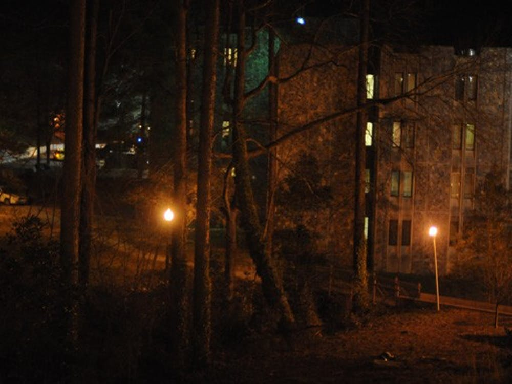 The reported robbery and sexual assault occurred in a wooded area behind Keohane dormitory on West Campus.