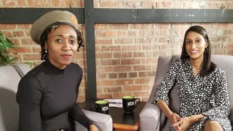 Ainehi Edoro-Glines (left) has continued to write and inspire since earning her Ph.D. in English literature at Duke.