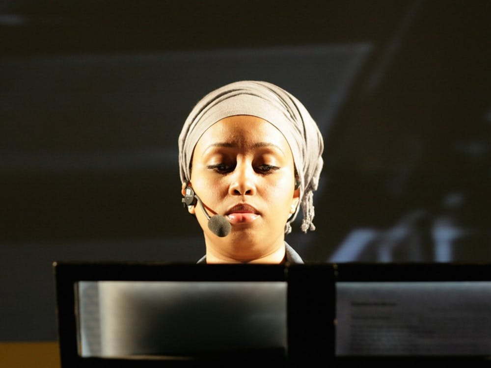 British poet Warsan Shire, pictured in 2010, visited Duke in April to read some of her works, primarily focusing on marginalized voices.