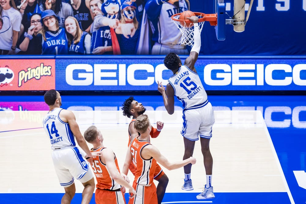<p>Big man Mark Williams did not play when Louisville and Duke met earlier this season.&nbsp;</p>