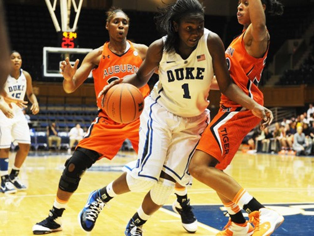 Freshman Elizabeth Williams leads the Blue Devils in both points and rebounds per game.