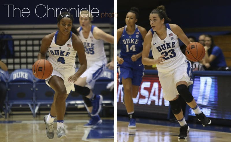 Maryland transfer Lexie Brown and All-ACC guard Rebecca Greenwell have a chance to be one of the nation's top backcourt tandems this season.