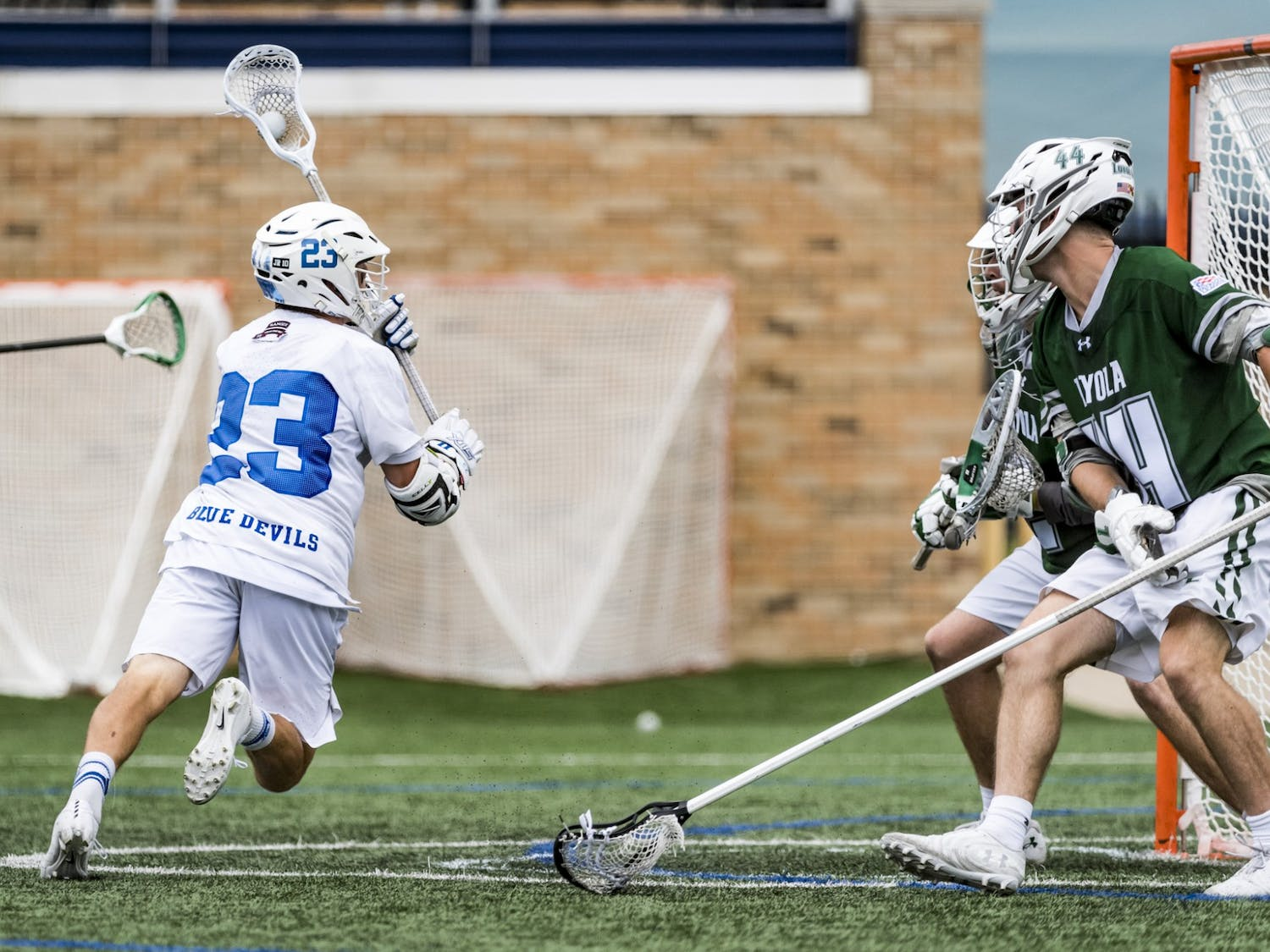 Graduate transfer Michael Sowers notched one goal in the first half against Maryland.