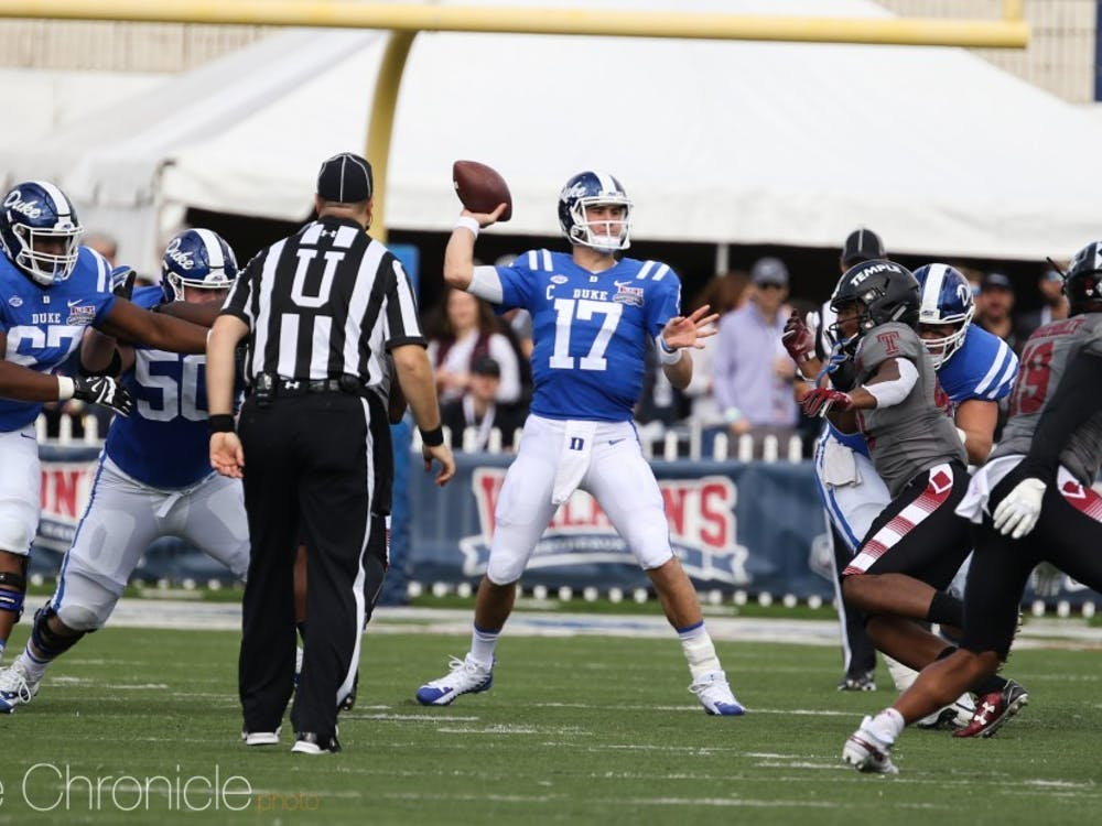 Daniel Jones was a three-year starter at Duke, and led the Blue Devils to two bowl victories.