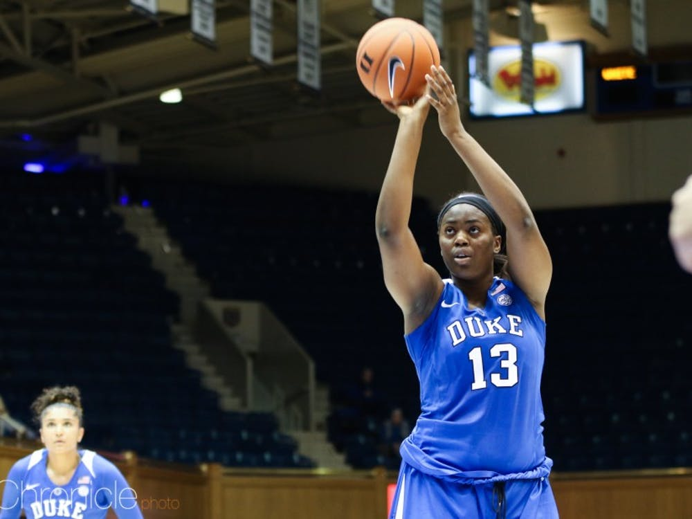 Uchenna Nwoke, the tallest player on Duke's roster, will miss the next month of action.