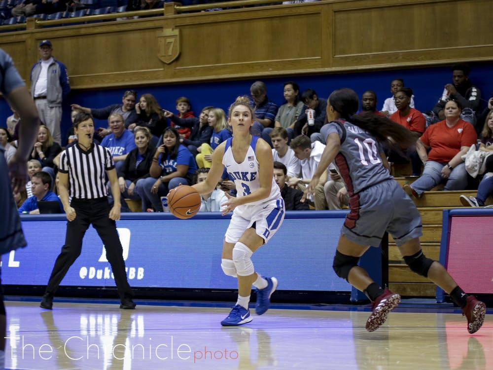 <p>Miela Goodchild had a stellar performance for the Blue Devils Sunday.</p>