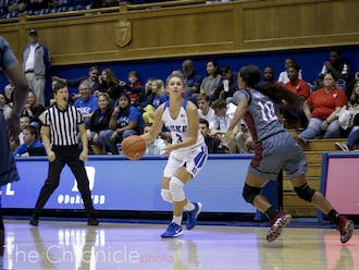 Miela Goodchild had a stellar performance for the Blue Devils Sunday.