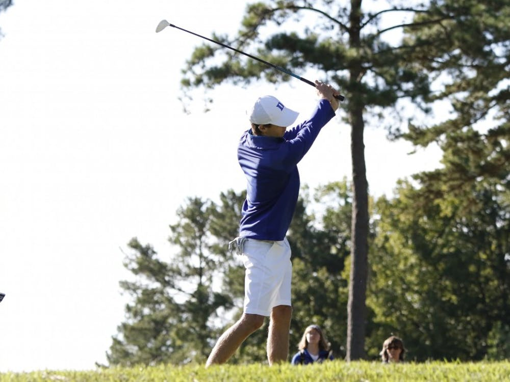 Duke overcame a slow first round with a 10-under-par second round, finishing fifth in its second tournament of the fall.