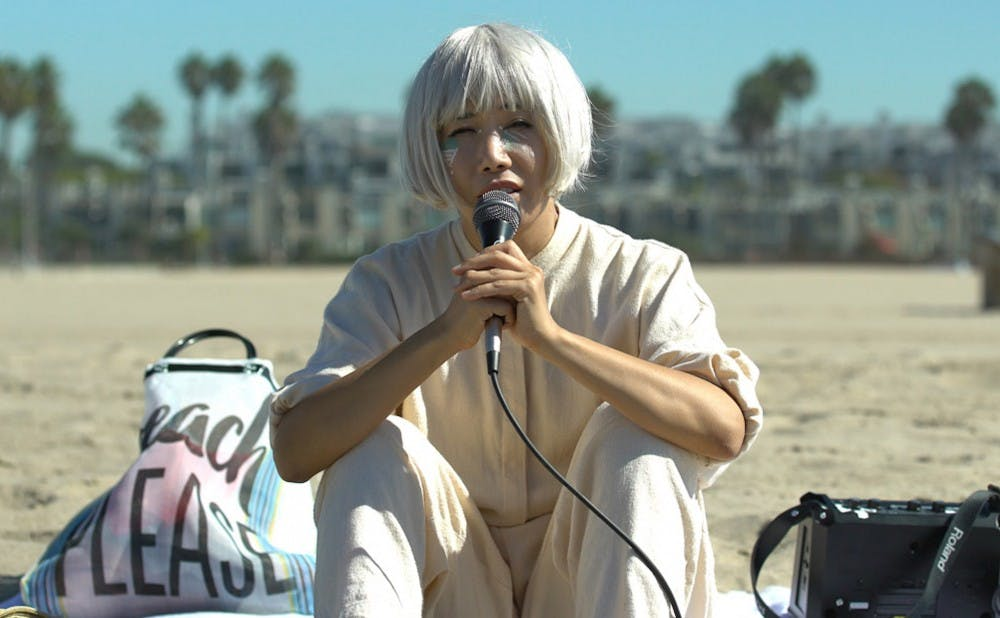 "<p>Vivian Bang plays a Korean American performance artist in Daryl Wein's film ""White Rabbit,"" which premiered at the Sundance Film Festival last Friday.</p>"