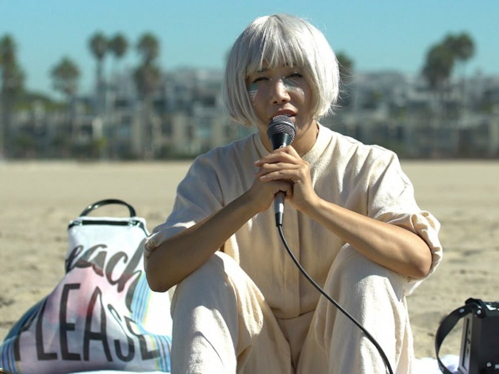 "Vivian Bang plays a Korean American performance artist in Daryl Wein's film ""White Rabbit,"" which premiered at the Sundance Film Festival last Friday."