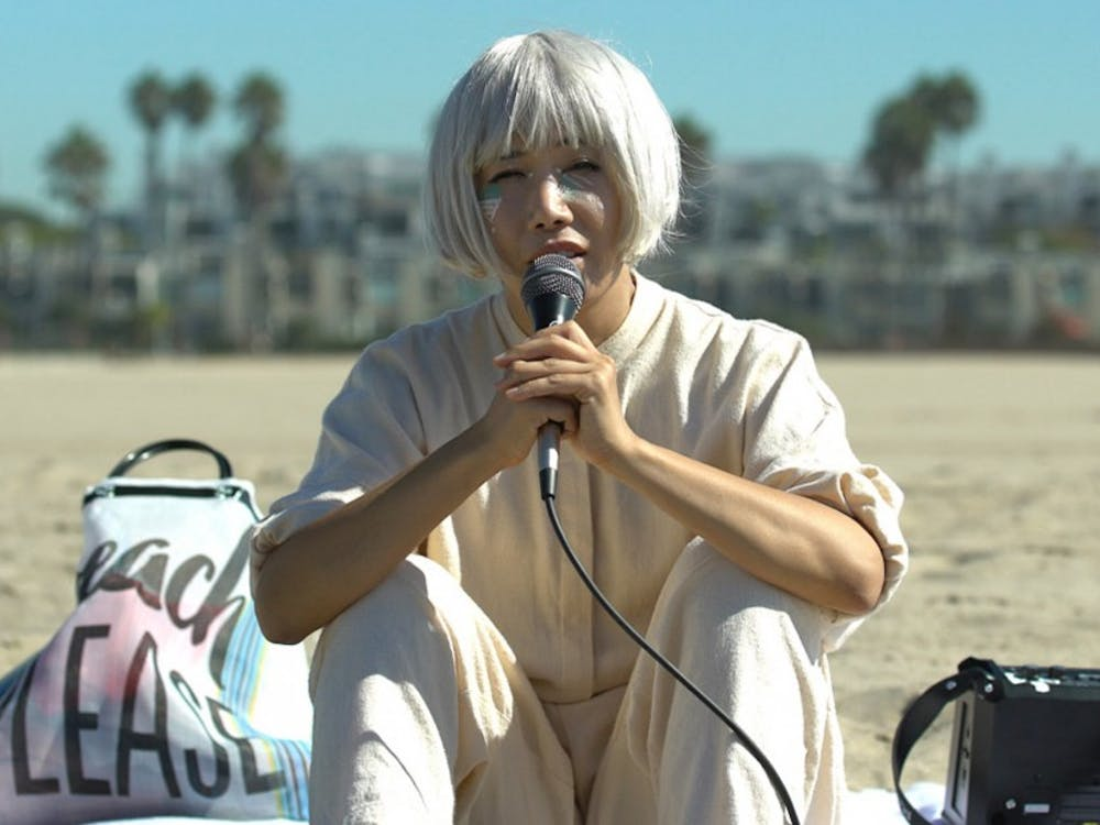 """Vivian Bang plays a Korean American performance artist in Daryl Wein's film """"White Rabbit,"""" which premiered at the Sundance Film Festival last Friday."""