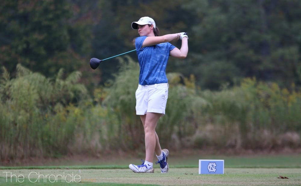 <p>Leona Maguire shot 12-under-par for 54 holes to take home the individual title in Chapel Hill.</p>