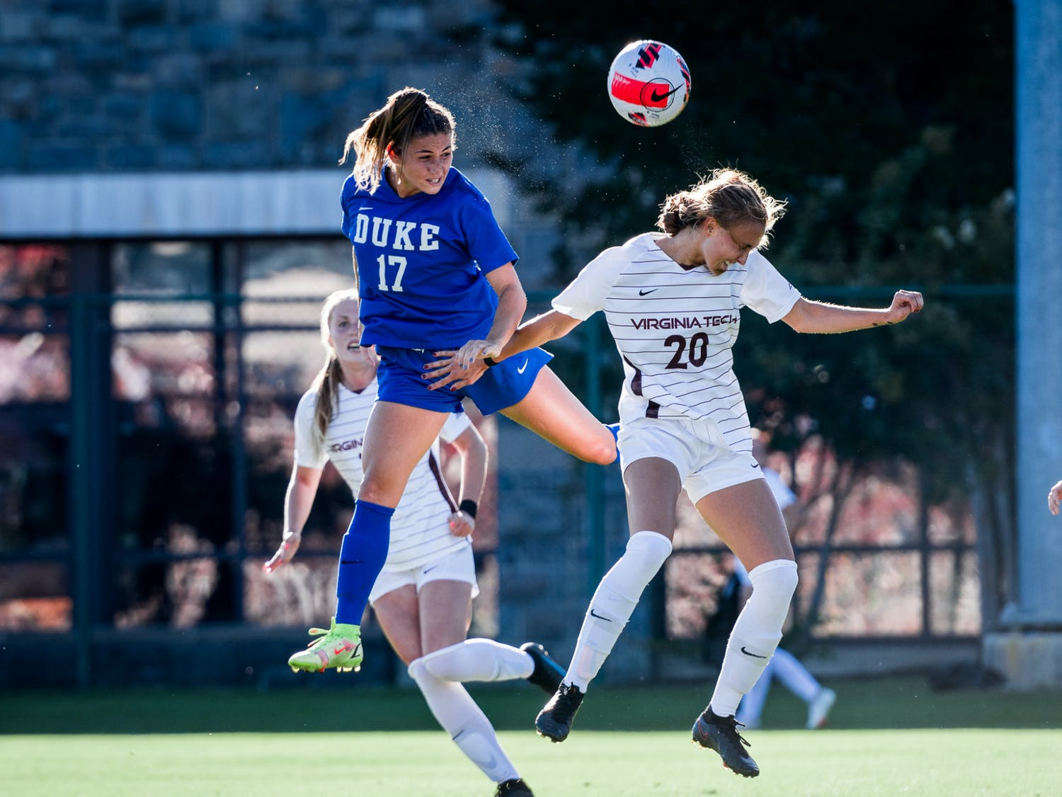 Sophomore Nicky Chico scored her first goal of her career against Virginia Tech.