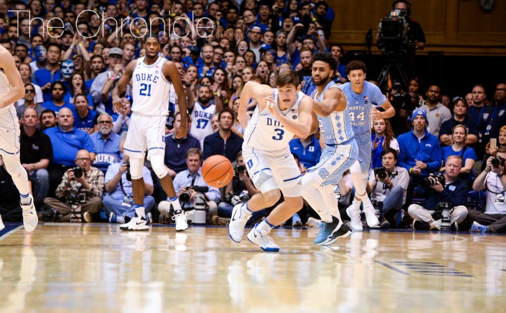 <p>The Blue Devils got multiple 50-50 balls Thursday, which helped them manage to outrebound North Carolina for the first time since 2014.&nbsp;</p>
