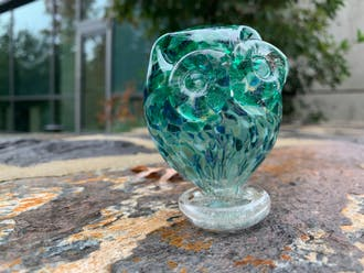 Courtney's glass owl, named Philip (after Philip Glass).
