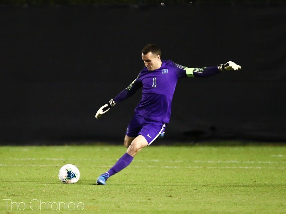 Duke goalie Will Pulisic stood strong against Clemson's high-powered offense.