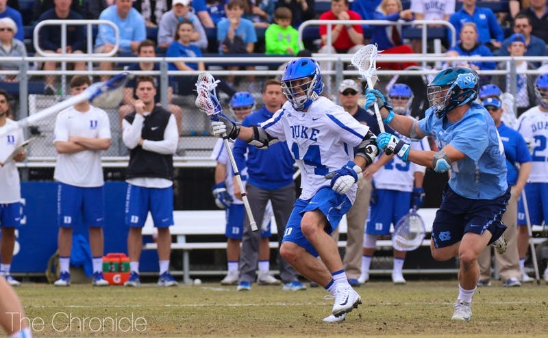 Justin Guterding scored his 203rd career goal Saturday. He's now second on the NCAA all-time scoring list.