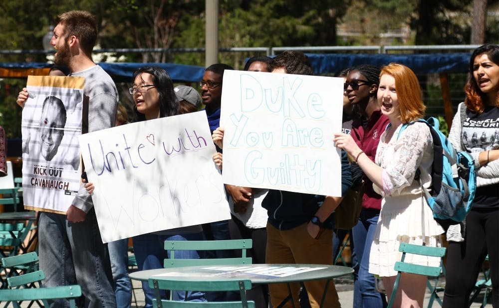 <p>Duke Students and Workers in Solidarity said Monday they will not negotiate with administrators without workers at the table.</p>