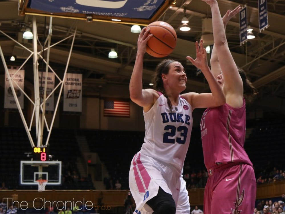 Rebecca Greenwell will likely play her last game at Cameron Indoor Stadium against her archrival Sunday.
