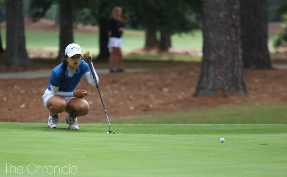 Jaravee Boonchant and the Blue Devils finished ninth at the ANNIKA Intercollegiate.