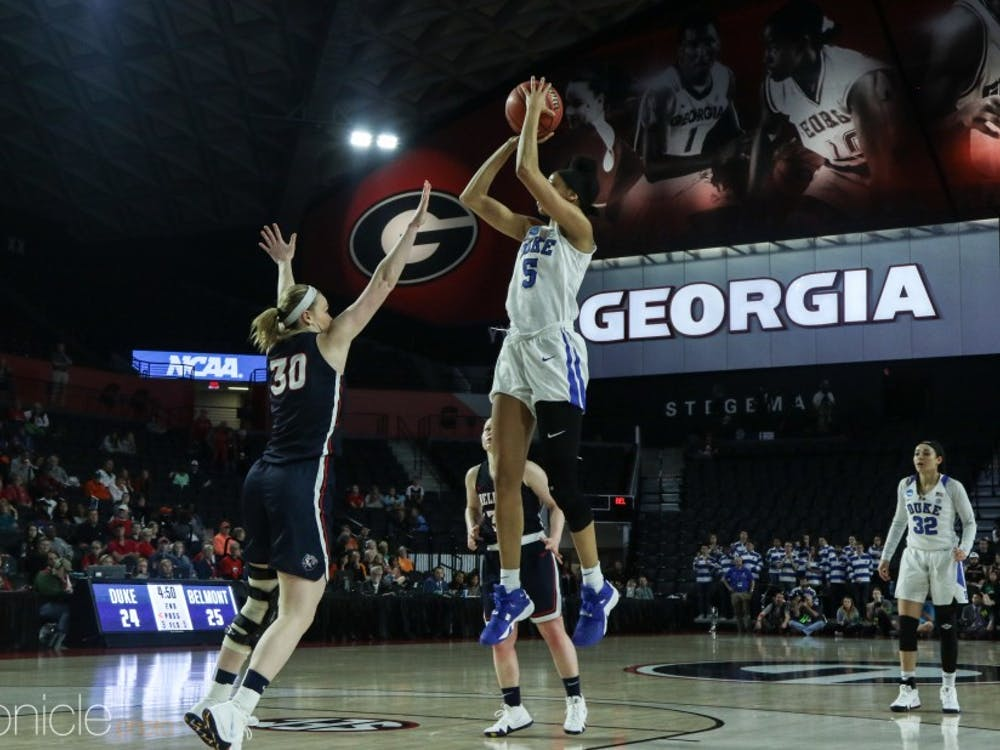 Leaonna Odom had a career day to lead the Blue Devils in scoring against Belmont.