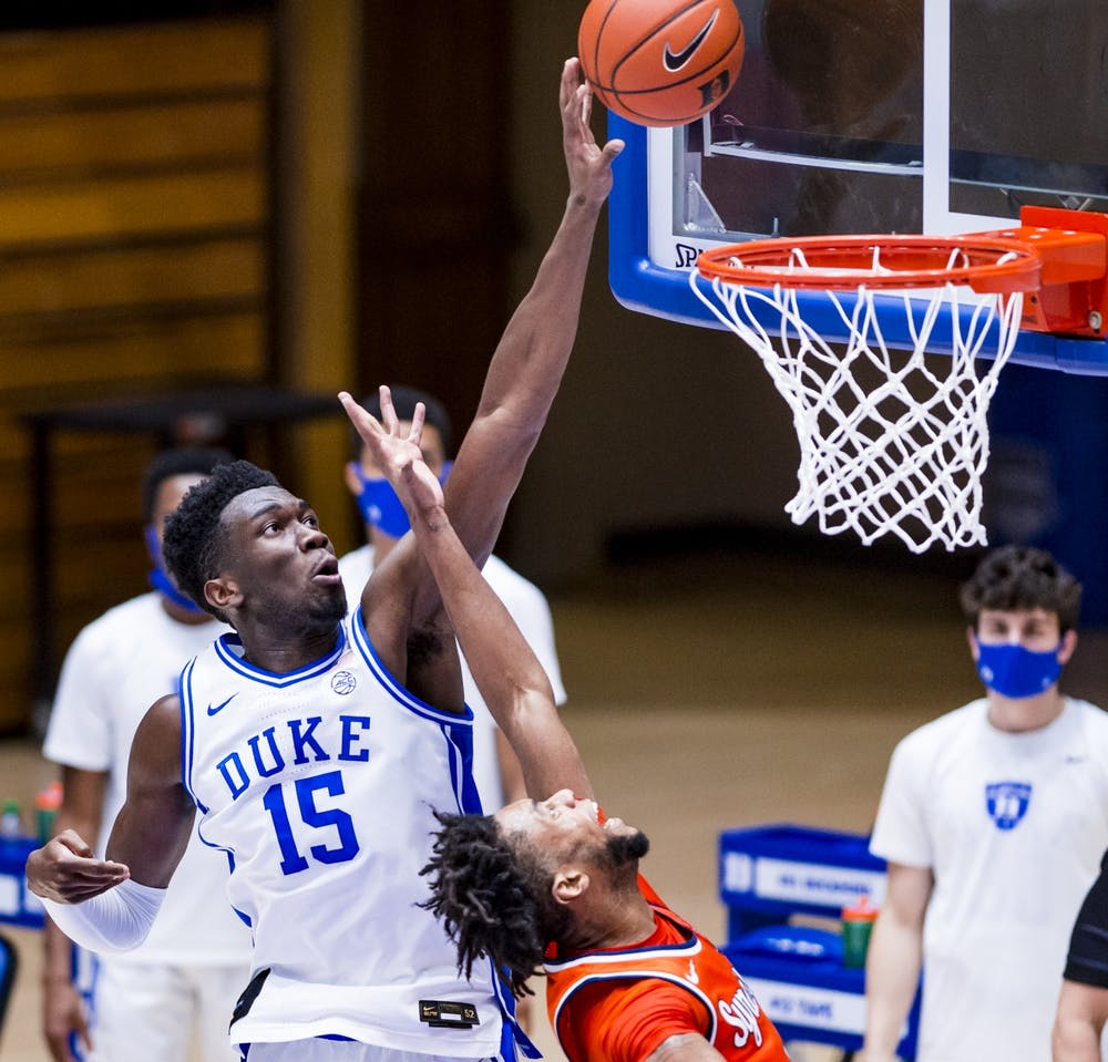 Freshman center Mark Williams has anchored the Blue Devils' defense over the last few weeks.