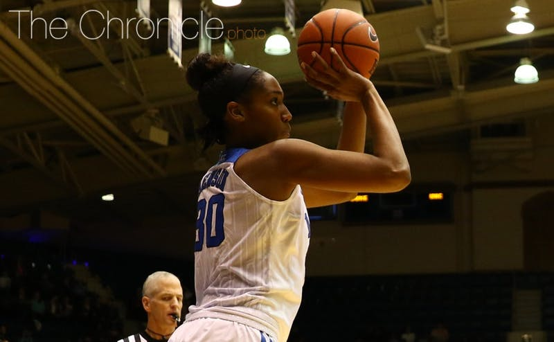 Graduate student Amber Henson and the Blue Devils will take their four-game winning streak into Monday's showdown against Notre Dame, a team Duke has yet to beat since the Fighting Irish joined the ACC.