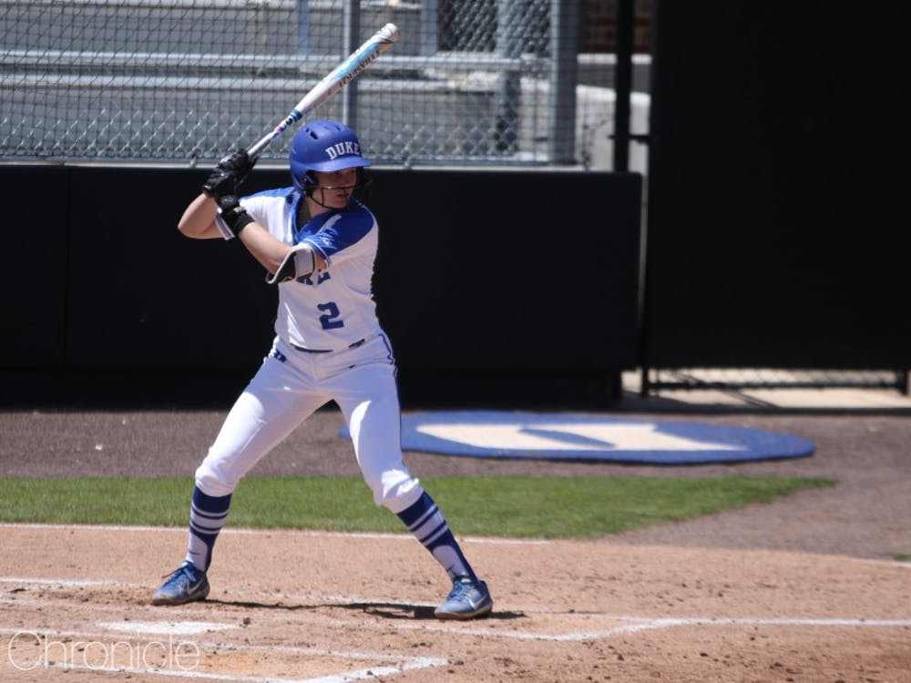 Jameson Kavel led off Duke's game against Penn State Sunday with a single and scored the first run of the afternoon.