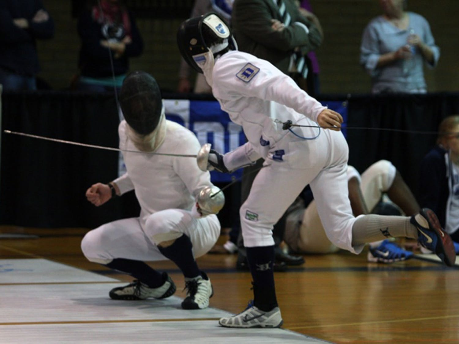 The Blue Devil men went 4-1 Saturday, falling just to No. 1 Penn State. The team claimed the Epee Cup for the best performance in the discipline.