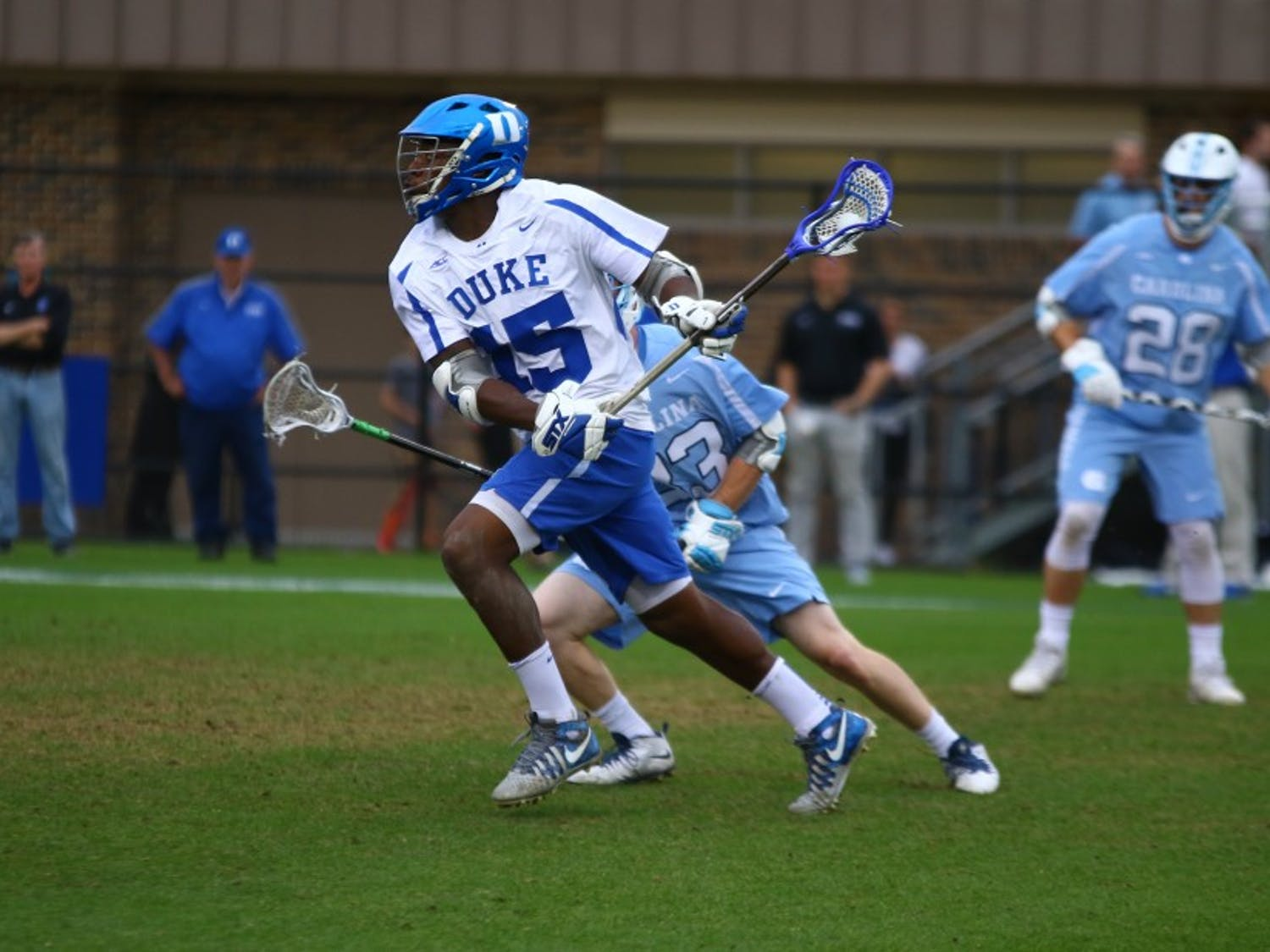 Senior Myles Jones became the first Blue Devil midfielder in history to reach 100 career goals earlier this season.
