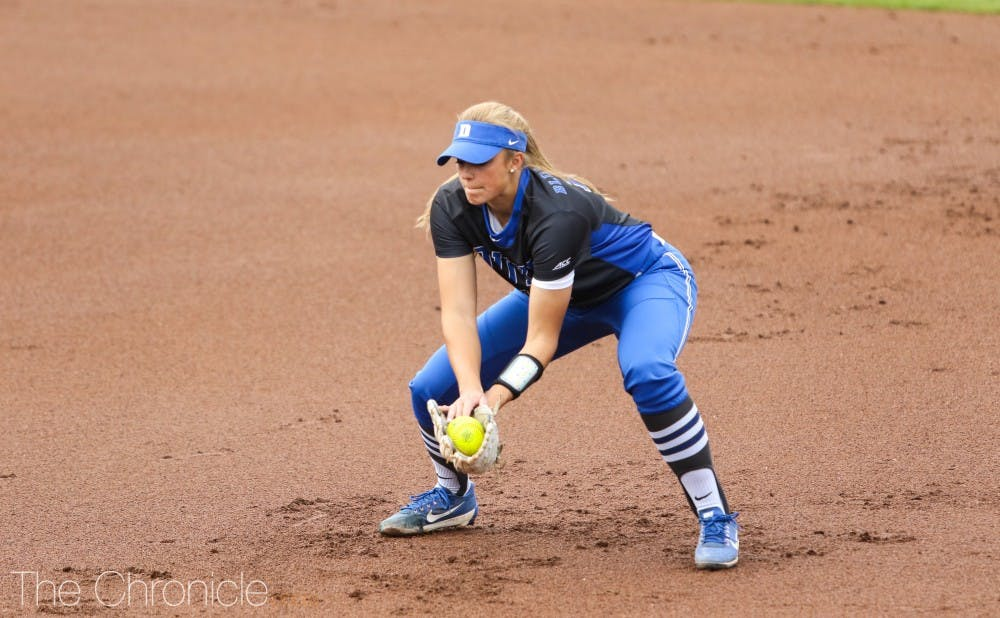 <p>Peyton St. George helped combine for a complete-game shutout in Duke's second game against Appalachian State.</p>