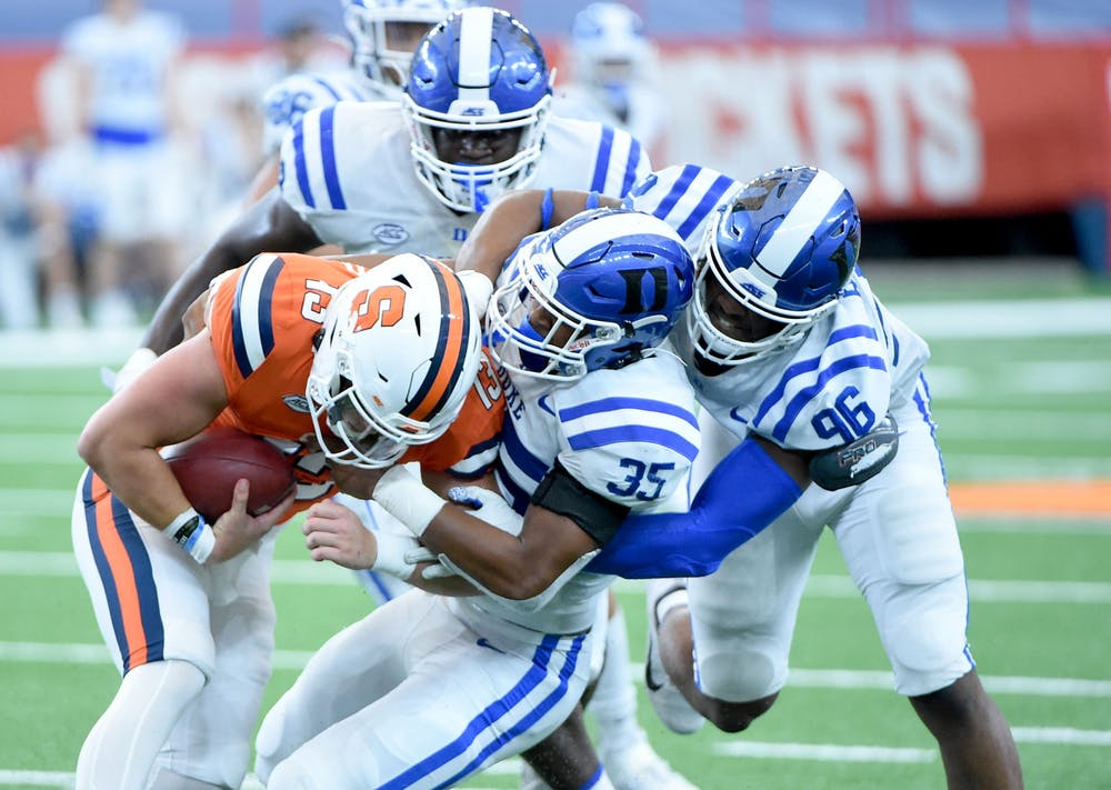<p>Duke's defense is going to need to continue playing at a high level against N.C. State.</p>
