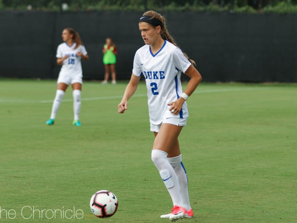 Senior defender Chelsea Burns has been a key contributor to Duke's lock-down defense.