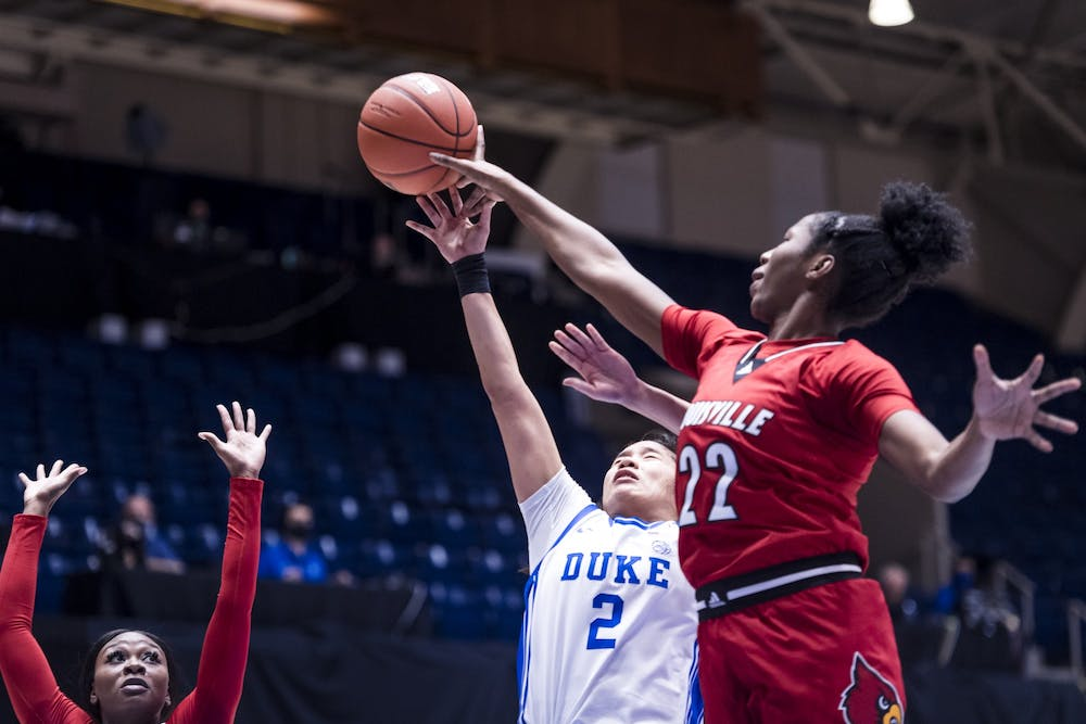 The Blue Devils stayed close in the first half, but the Cardinals ultimately pulled away.