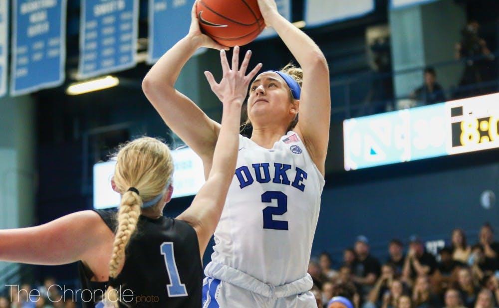 <p>Haley Gorecki struggled to maintain possession against Virginia.</p>