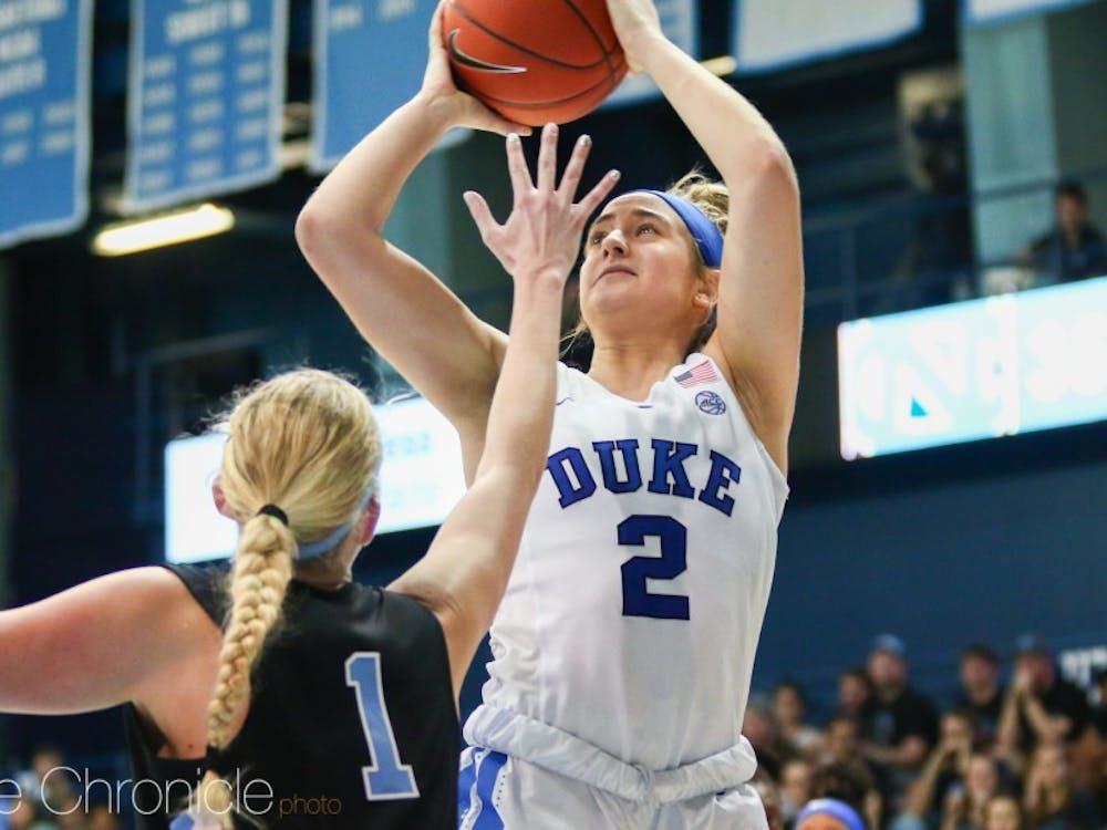 Haley Gorecki struggled to maintain possession against Virginia.